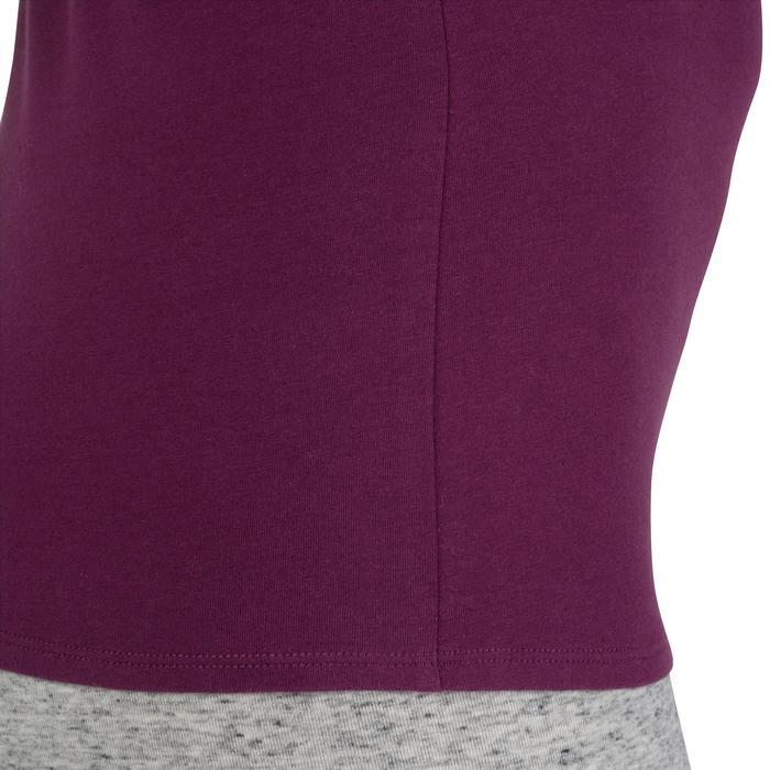 Dames T-shirt met korte mouwen voor gym en pilates gemêleerd - 1206592