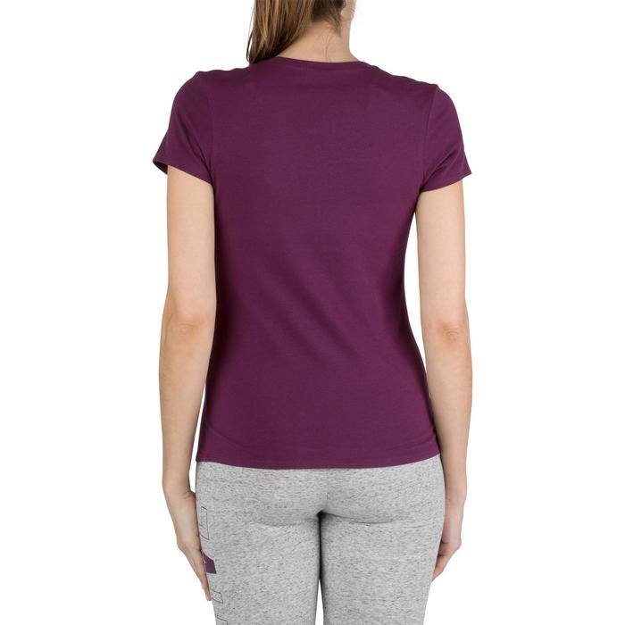 Dames T-shirt met korte mouwen voor gym en pilates gemêleerd - 1206645