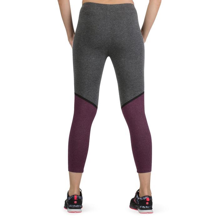 Legging 7/8 FIT+ 500 slim Gym & Pilates femme noir - 1206669