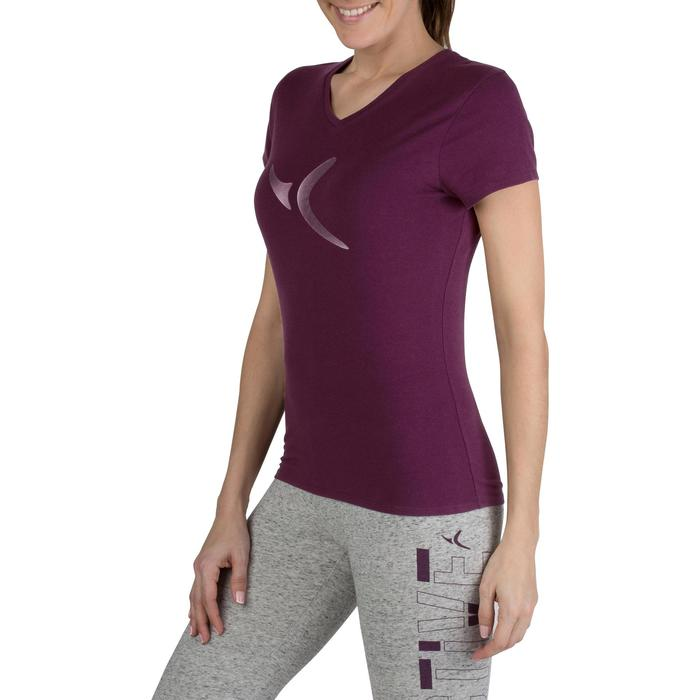 Dames T-shirt met korte mouwen voor gym en pilates gemêleerd - 1206671