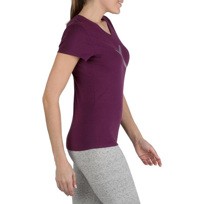 Dames T-shirt met korte mouwen voor gym en pilates gemêleerd - 1206723