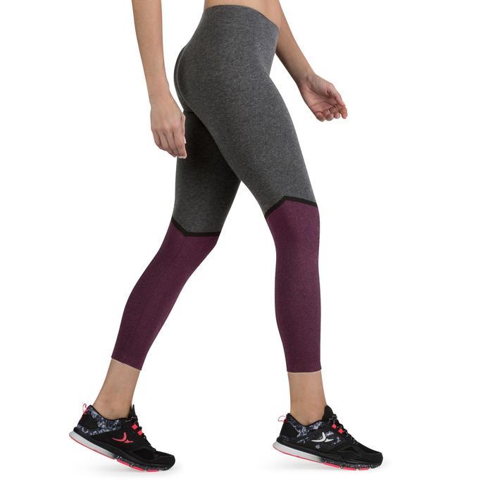 Legging 7/8 FIT+ 500 slim Gym & Pilates femme noir - 1206738