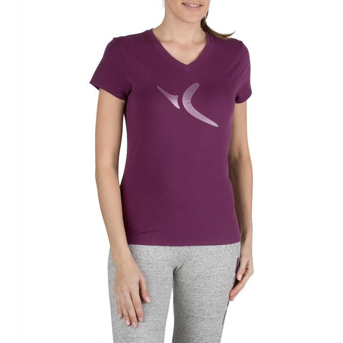 Dames T-shirt met korte mouwen voor gym en pilates gemêleerd - 1206790