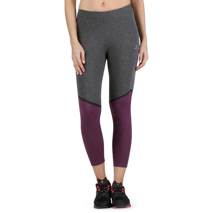 Legging 7/8 FIT+ 500 slim Gym & Pilates femme noir - 1206898