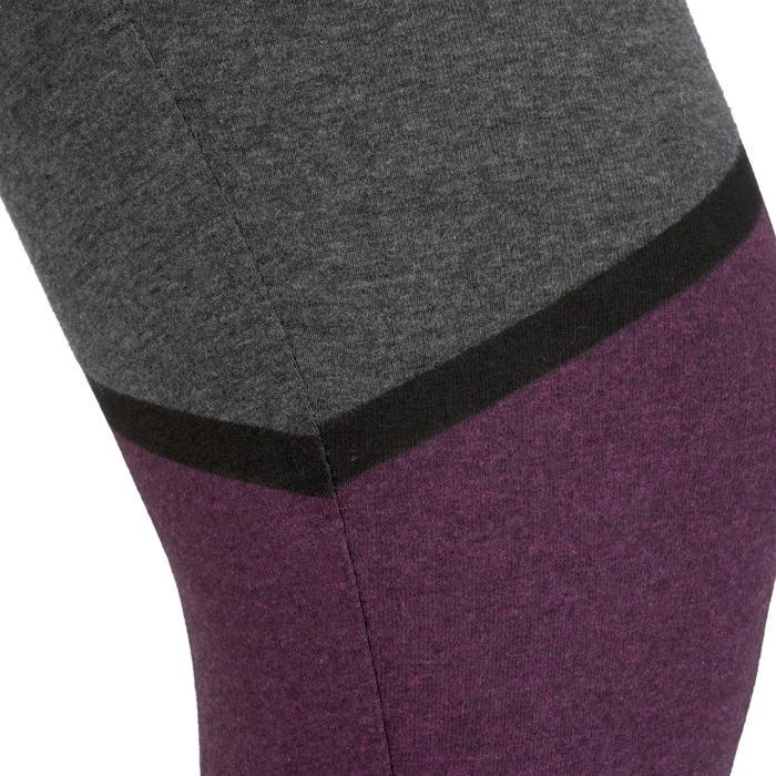 Legging 7/8 FIT+ 500 slim Gym & Pilates femme noir - 1206934