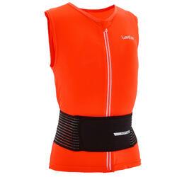Gilet protection dorsale de planche à neige et de ski junior DBCK 100 orange