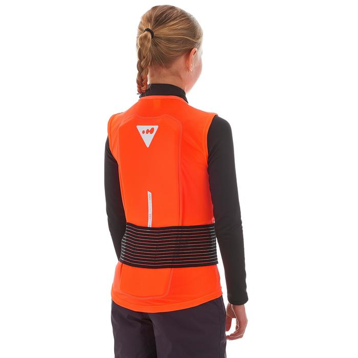 Rückenprotektor Schutzweste Ski/Snowboard DBCK 100 Kinder orange
