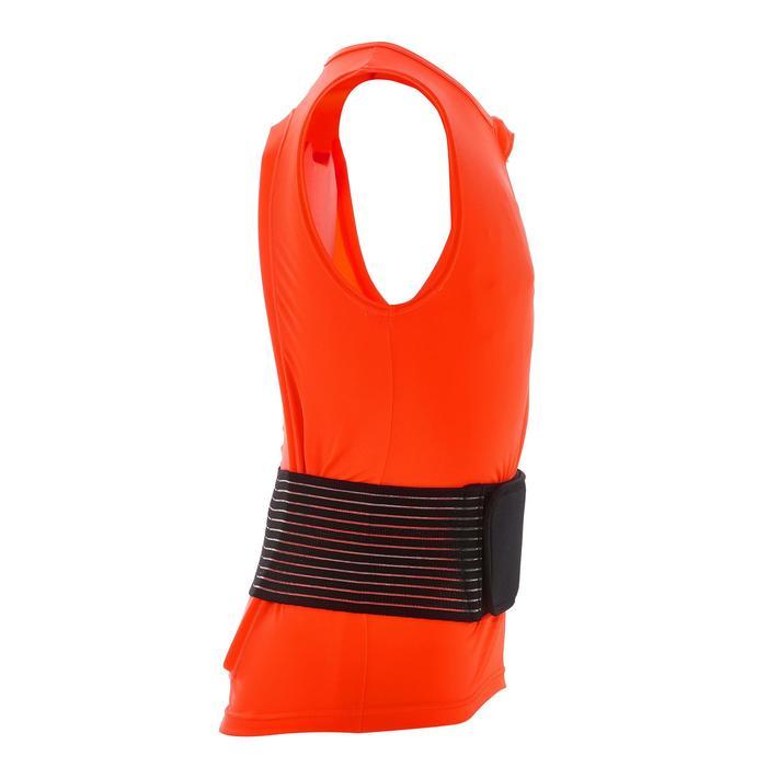 Chaleco de protección dorsal de snowboard y de esquí junior DBCK 100 naranja