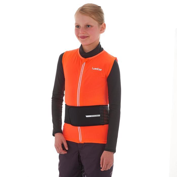 Rugbeschermer voor skiën en snowboarden kinderen DBCK 100 oranje