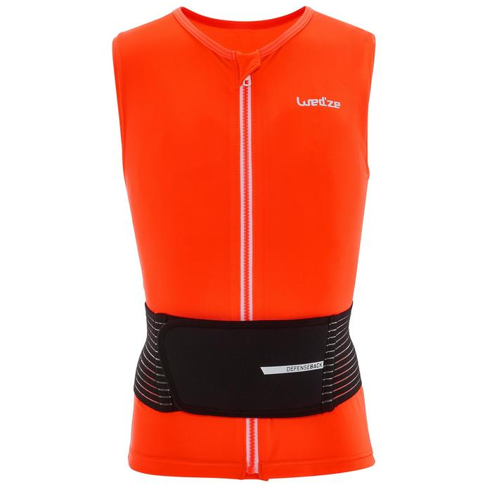Gilet protection dorsale de ski et snowboard DBCK 100 JR orange - 1206987