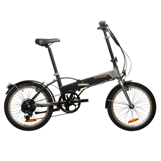 hoptown 500 folding electric bike folding bikes. Black Bedroom Furniture Sets. Home Design Ideas