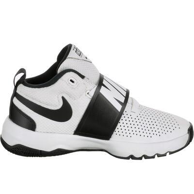 vraie qualité belle qualité fournisseur officiel Chaussure de Basketball pour enfant Nike Team Hustle Junior blanc noir