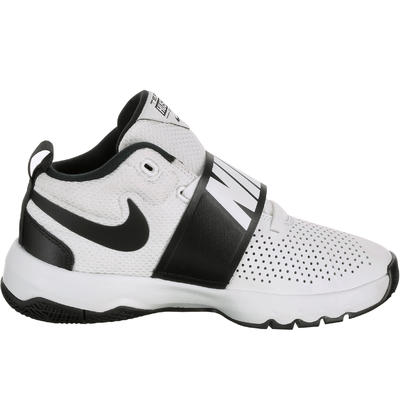 San Francisco 41408 a1b13 Chaussure de Basketball pour enfant Nike Team Hustle blanc