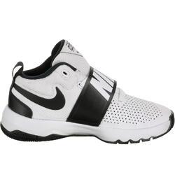 Basketbalschoenen Nike Team Hustle kinderen wit/zwart