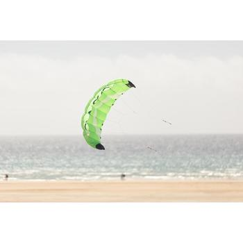Powerkite 1,9 m² + bar fluogroen