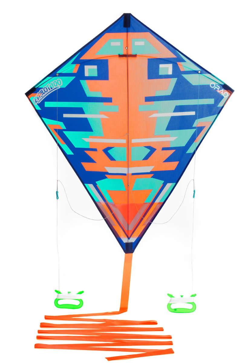 LÉTAJÍCÍ DRAK Létající draci, kitesurfing, landkiting - DRAK IZYPILOT 100 ORANŽOVÝ ORAO - Draci pro děti