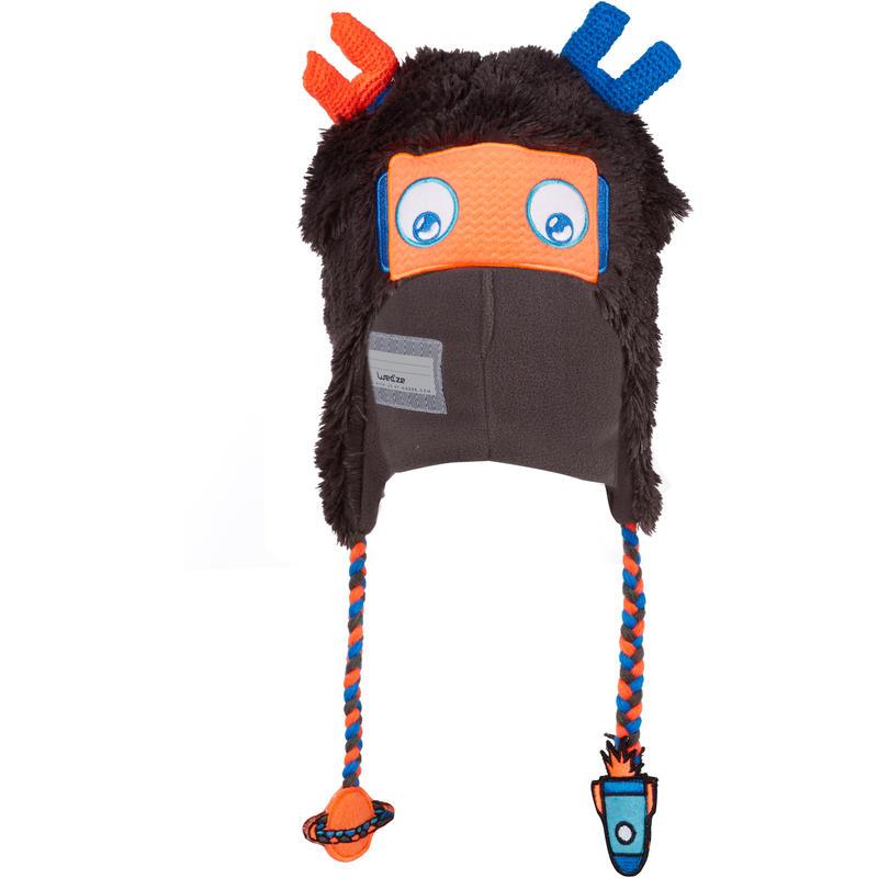Robot Kids' Peruvian Ski Hat - Grey