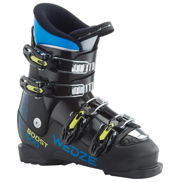Skischuhe Boots Ski-P Boots 500 Kinder schwarz
