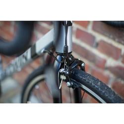 Racefiets voor recreatief fietsen Triban 100 grijs