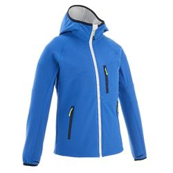 Hike 900 Boy's Softshell Hiking Jacket - Blue