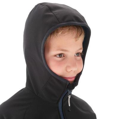 KIDS' SOFTSHELL HIKING JACKET MH550 7-15 YEARS - BLACK