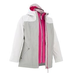 Hike 500 3合-1 女童登山防水保暖外套 - 灰色