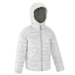 女童款保暖雪地健行外套SH100(7到15歲)-白色