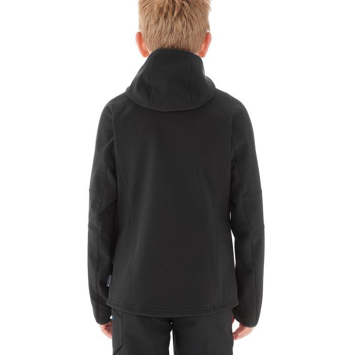 Softshelljacke Wandern MH550 Kinder 123-172cm schwarz