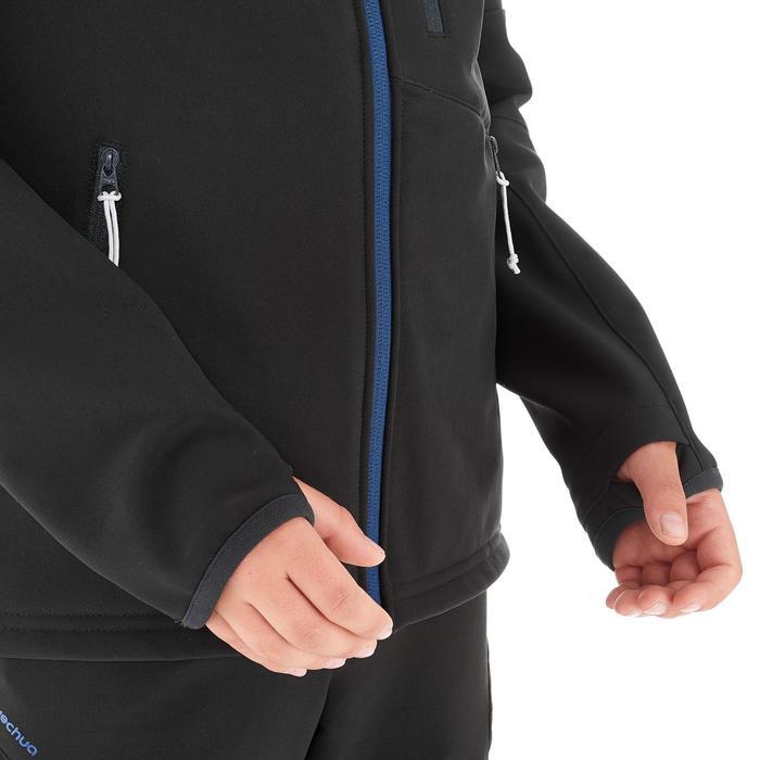 Kids' Softshell Hiking Jacket MH550 7-15 Years - Black/Blue