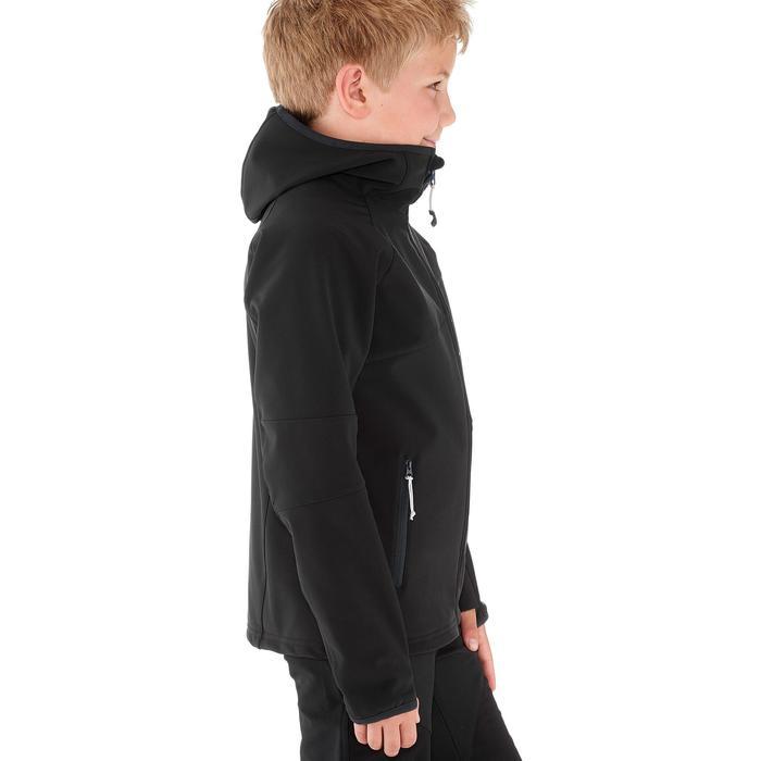Veste softshell de randonnée garçon Hike 900 noire