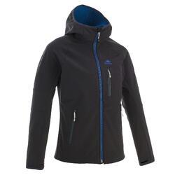 Softshell jas voor wandelen kinderen MH500 zwart 7-15 jaar