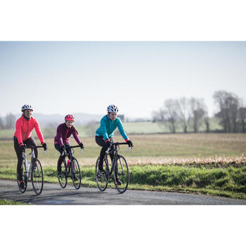 Fietsbroek dames wielrennen wielertoerisme 500 zwart
