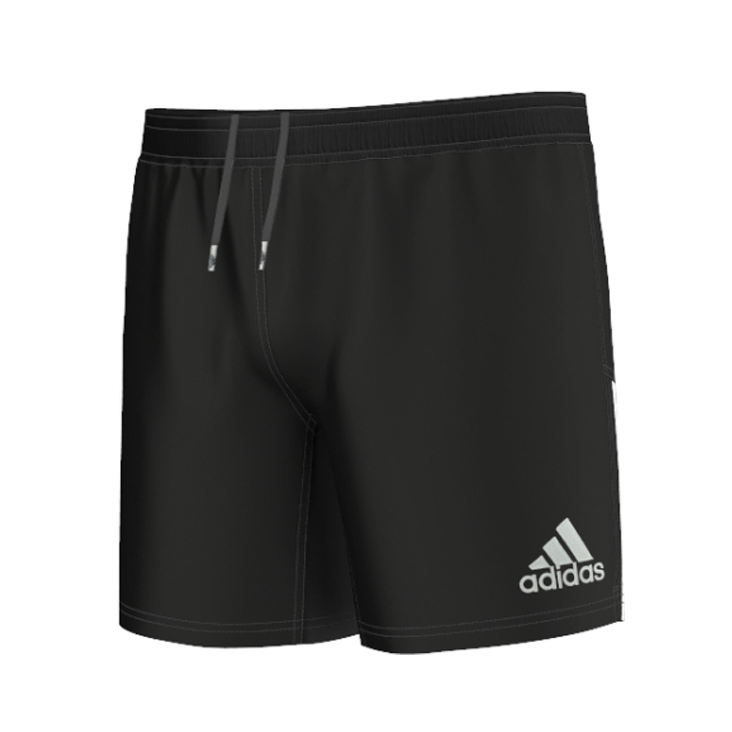 Adidas Rugbyshort 3S voor volwassenen zwart