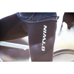 Lange Radhose Rennrad 500 Damen schwarz