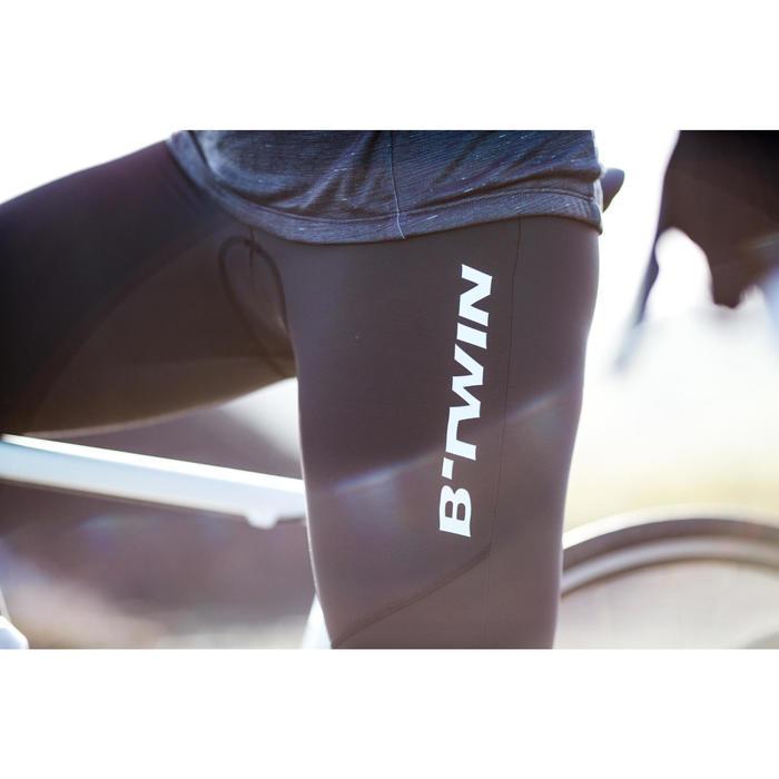Mallas largas de ciclismo de carretera cicloturismo mujer 500 negras