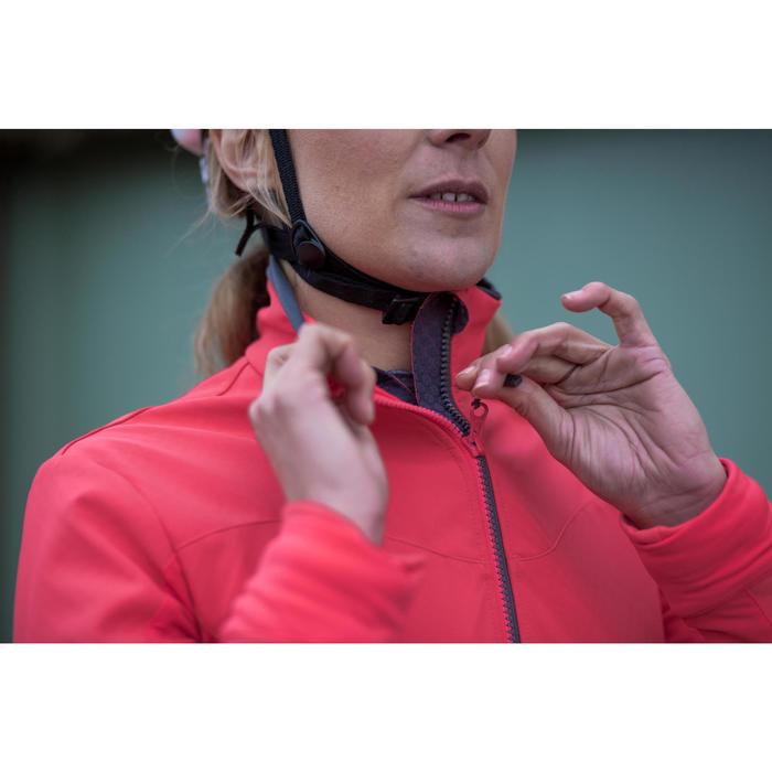 Fahrrad Winterjacke Rennrad RC 500 Damen rosa