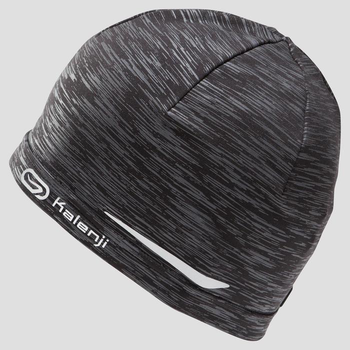 Laufmütze grau/schwarz meliert