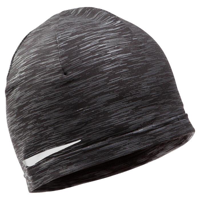 Hardloopmuts grijs/gevlamd zwart