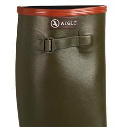 Katiuskas Botas Agua Caza Aigle Arnay Ligera Fuelle Ajustable Verde Impermeable