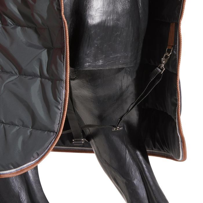 Couverture écurie équitation cheval et poney ST200 gris foncé