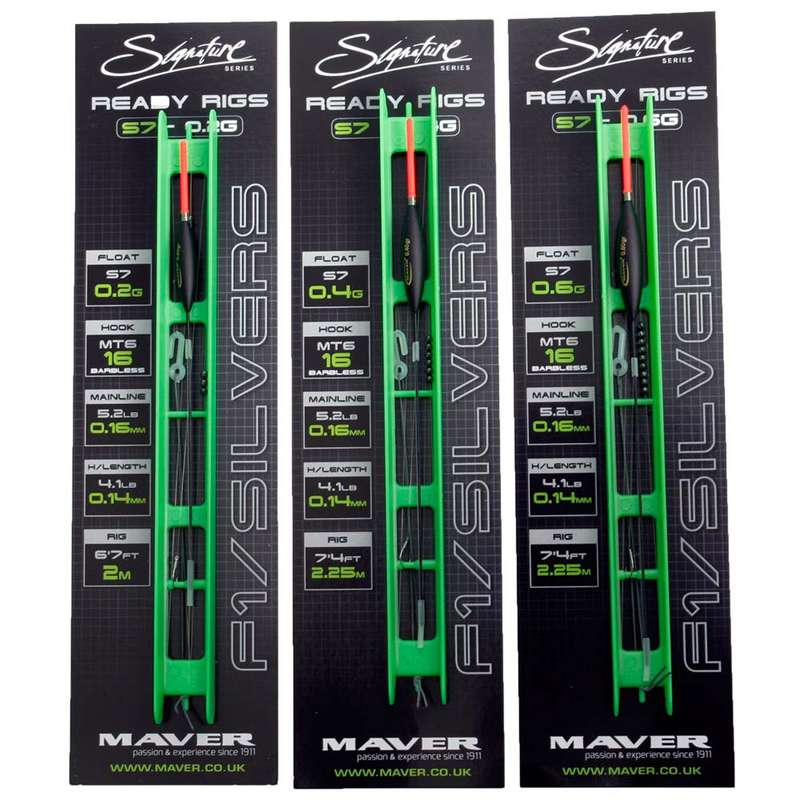 POLE RIGGED LINES Fishing - Sloty Sliver Fish Pole Rig MAVER - Coarse and Match Fishing