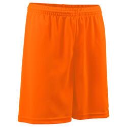 Calções de futebol adulto F100 laranja