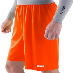 Pantalón corto de Fútbol adulto Kipsta F100 naranja
