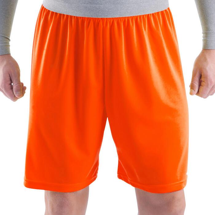 Pantalón corto de fútbol adulto F100 naranja