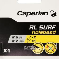 BAJO DE LÍNEA PESCA RL SURF HOLEBEAD X1 3H N°6
