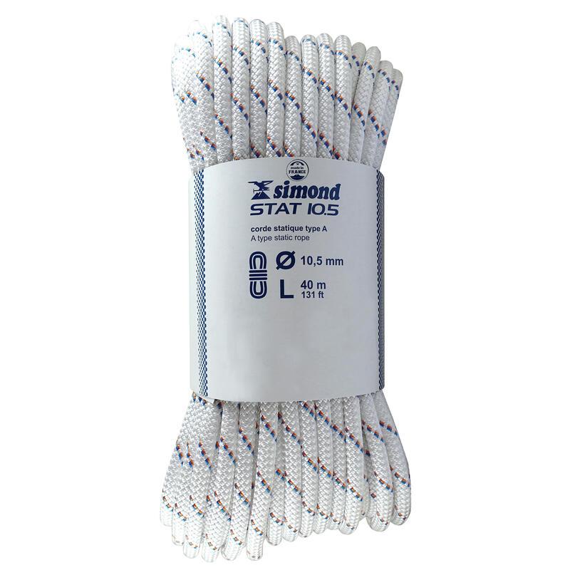 Corde Semi-Statique 10,5 mm x 40 m - STAT 10,5 Blanche