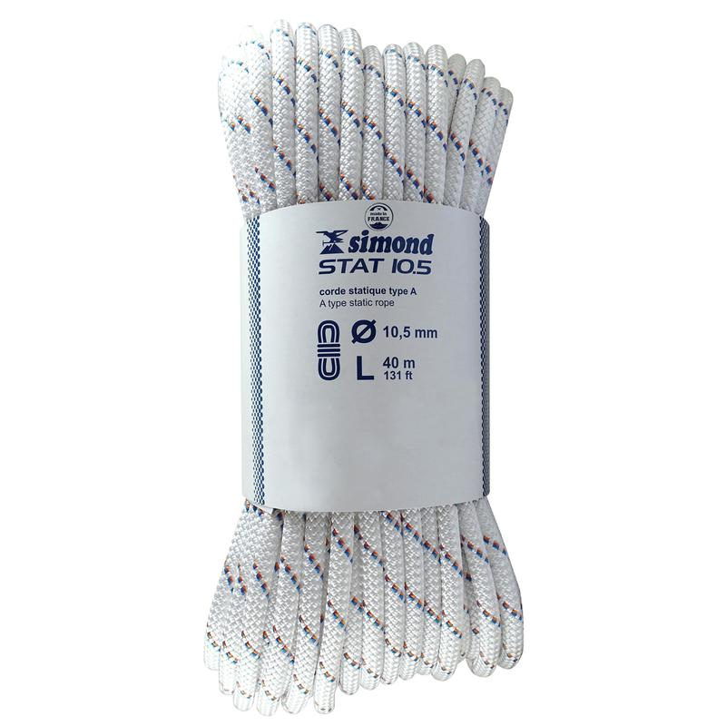Semi-Static Rope 10.5 mm x 40 m - Stat 10.5 White