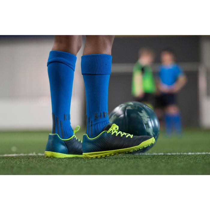 Chaussure de football enfant terrains durs Agility 300 HG bleue jaune