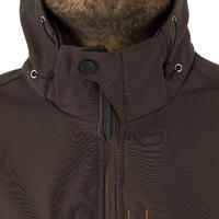 HUNTING SOFTSHELL JACKET 500 BROWN