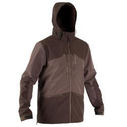 Softshell jas voor de jacht 500 bruin